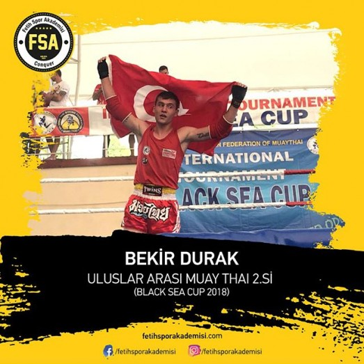 BEKİR DURAK ULUSLAR ARASI MUAY THAİ 2.Sİ (BLACK SEA CUP 2018)